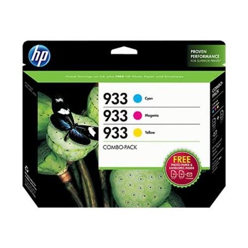 HP Inc. 933 Combo-pack - 3-pack - yellow, cyan, magenta - original - ink cartridge - for Officejet 6100, 6600 H711a, 6700, 7110, 7510, 7610, 7612 (N9H56FN#140)