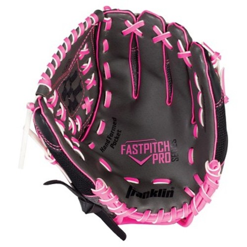 Franklin Sports PVC Windmill Series Left Handed Thrower Softball Glove - Gray/Pink Mesh (11.0\