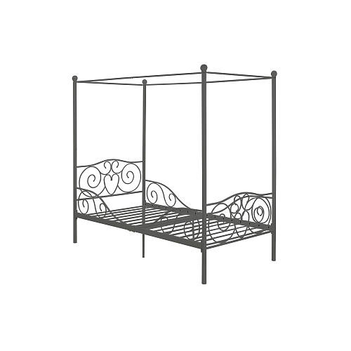 Dorel Home Products Canopy Metal Twin Bed - Pewter