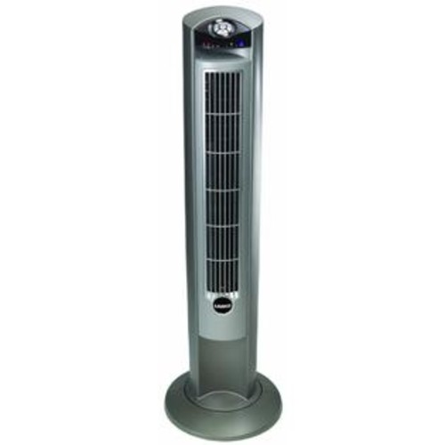 Lasko Products 2551 Wind Curve Platinum Tower Fan With Remote Control and Fresh Air Ionizer
