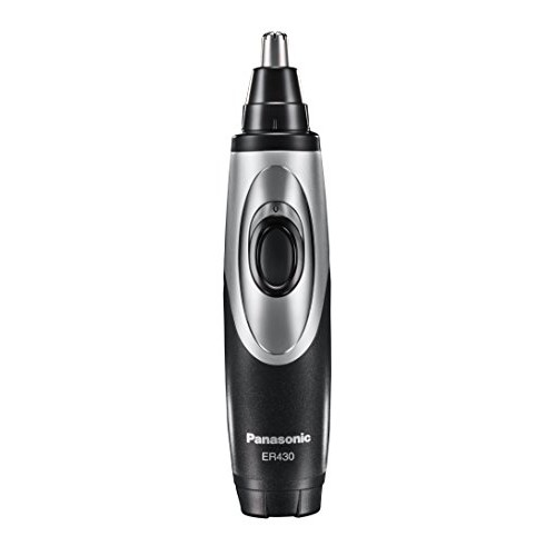 Panasonic ER430K Ear & Nose Trimmer with Vacuum Cleaning System, Men's, Wet/Dry, Battery-Operated