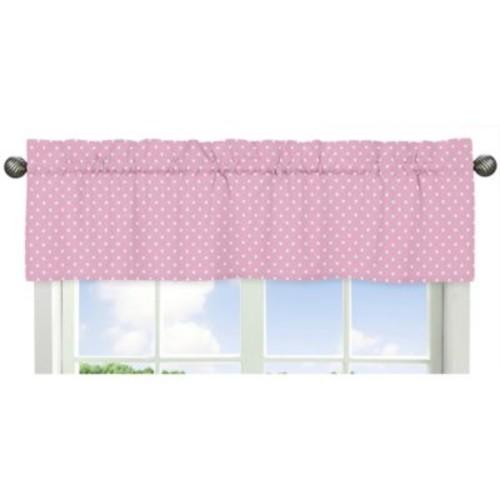 Sweet Jojo Designs Skylar Polka Dot Window Valance in Pink