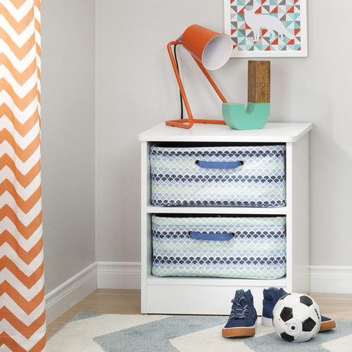 South Shore Storit Blue Nightstand Baskets (Pack of 2)