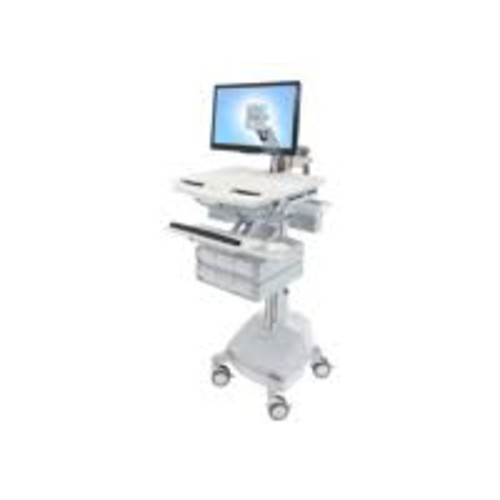Ergotron StyleView - Cart with LCD Arm, SLA Powered, 6 Drawers - Cart for LCD display / keyboard / mouse / bar code scanner / CPU
