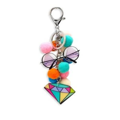 Kid's Pom-Pom Diamond Keychain