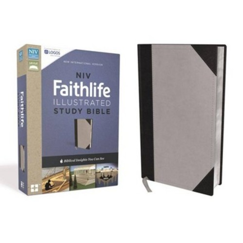 NIV Faithlife Study Bible : New International Version, Gray/Black, Leathersoft, Intriguing Insights to
