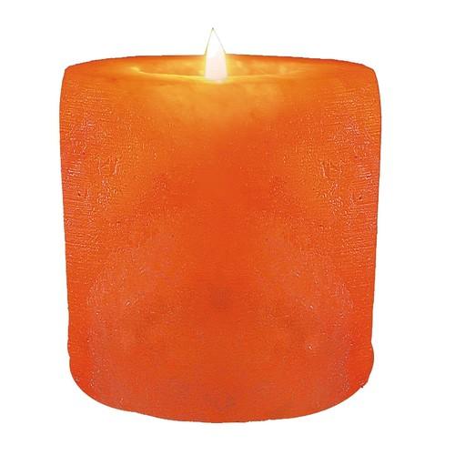 WBM Hand Carved Cylinder Shape Himalayan Crystal Salt 1 tealight Candle Holder