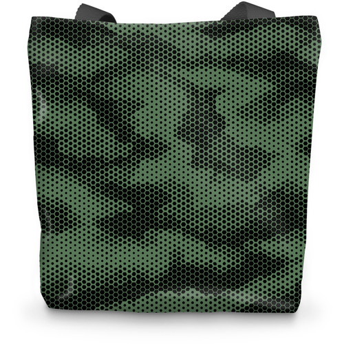 Dot Green CAMO Tote Bag