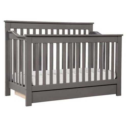 DaVinci Piedmont 4-in-1 Convertible Crib with Toddler Bed Conversion Kit - Slate