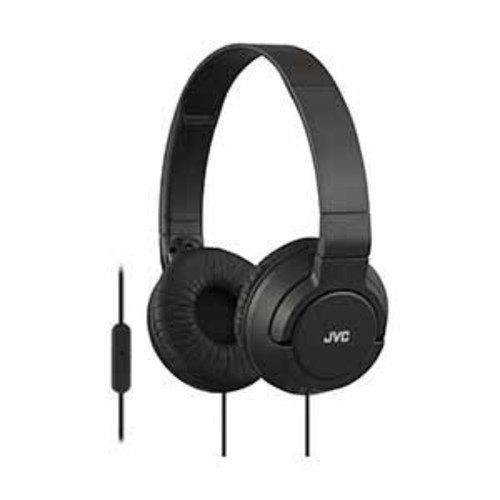 JVC Colorful Lightweight On-Ear Headphones with Mic - Black