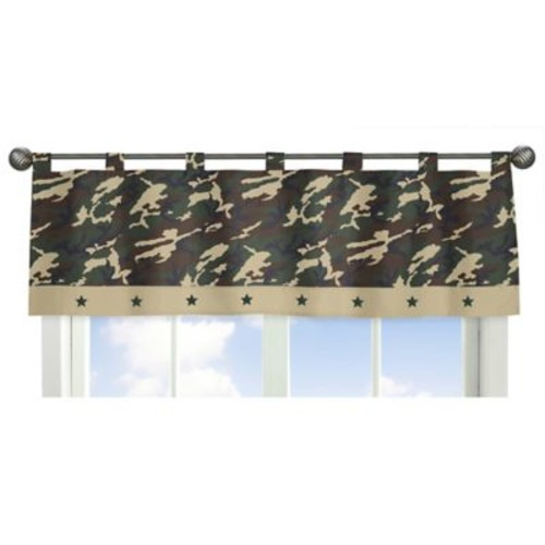Sweet Jojo Designs Camo Window Valance in Green
