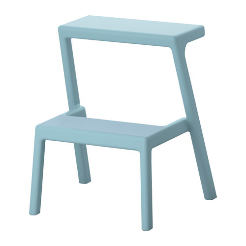 MSTERBY Step stool, light blue