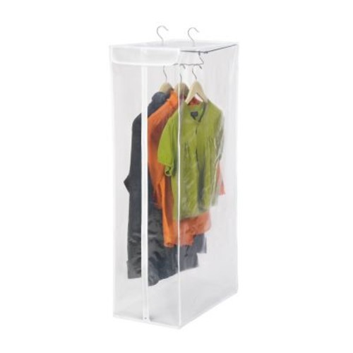 Honey Can Do Short Hanging Storage Closet, White/Clear (SFT-01415)