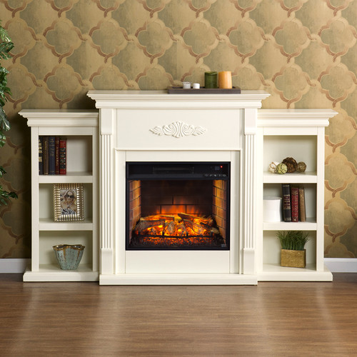 SEI Newport Electric Fireplace - Ivory