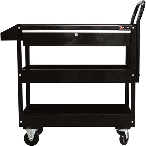 Excel Rolling Tool Cart with Locking Drawer  300-Lb. Capacity, Model# TC301C-BLACK