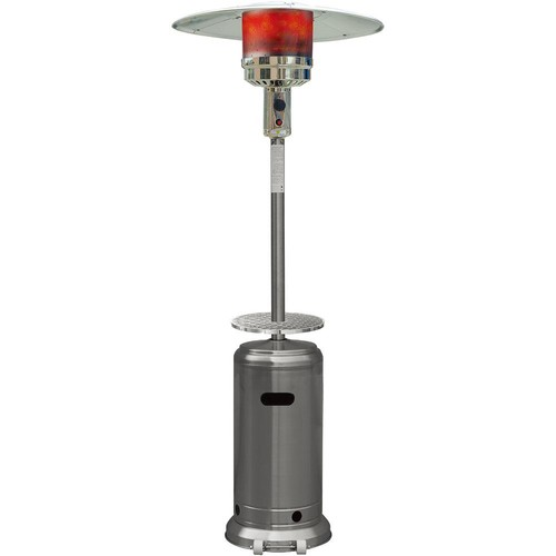 Hanover 7 ft. 41,000 BTU Stainless Steel Umbrella Propane Gas Patio Heater