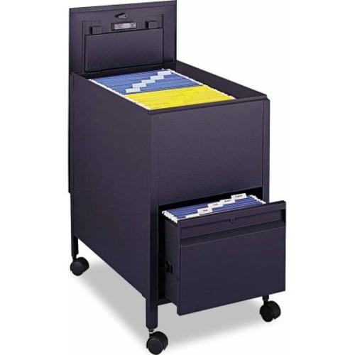 Safco 1 Drawers Filing Cart Lockable , Black