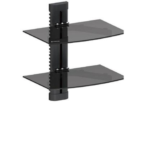 GForce DVD Double Shelf Wall Mount for Media Players with Tempered Glass