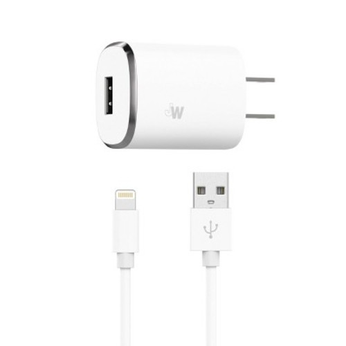 Lightning Wall Charger and USB cord - White (04466)