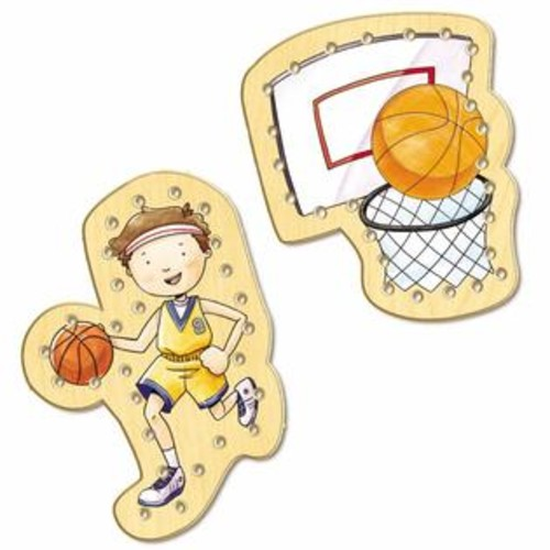 TS Shure Basketball Wooden Lacing Cards