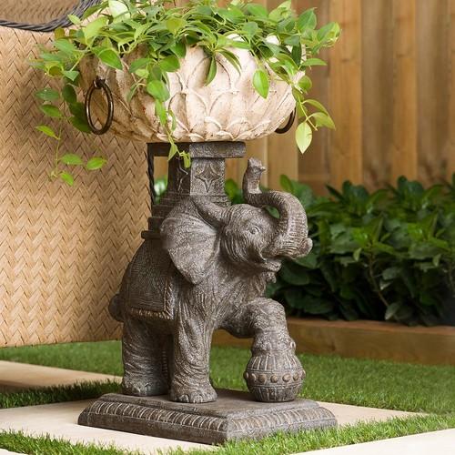 Bombay Outdoors Assam Elephant Urn Planter - Indoor / Outdoor