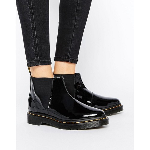 Dr Martens Bianca Black Patent Chelsea Boots