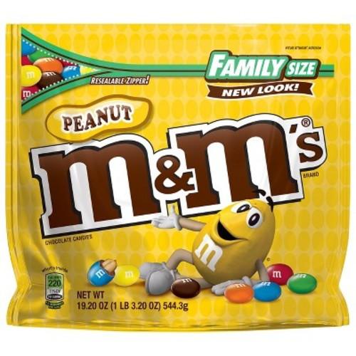 M&Ms Peanut Family Size - 19.2oz