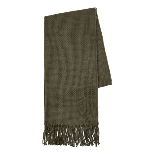 Khaki Crosshatch Scarf