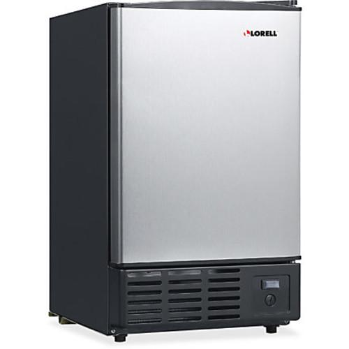 Lorell 19-Liter Stainless Steel Ice Maker - 5.02 gal Per Day - Stainless Steel - Stainless Steel