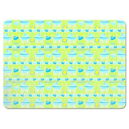 Neon Baby Blue Placemats (Set of 4)