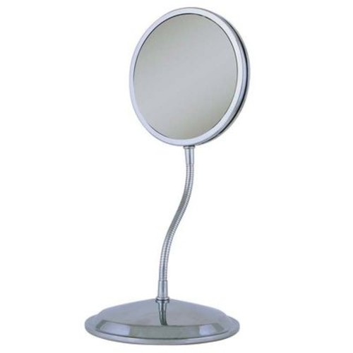 Zadro Dual-Sided Gooseneck 1x/5x/10x Magnifying Vanity & Wall Mount Mirror