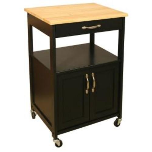 Catskill Craftsmen Black Kitchen Cart with Storage