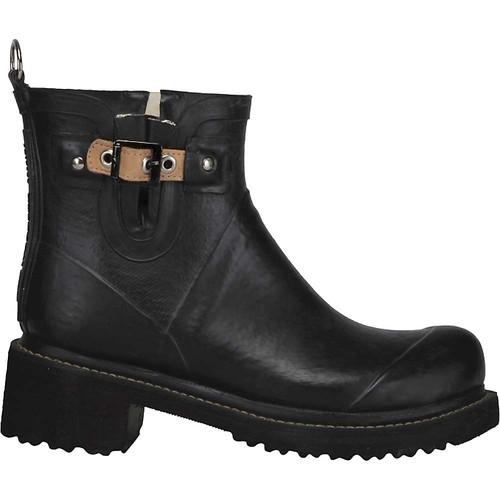 ILSE JACOBSEN Buckle Rub Boot in Black