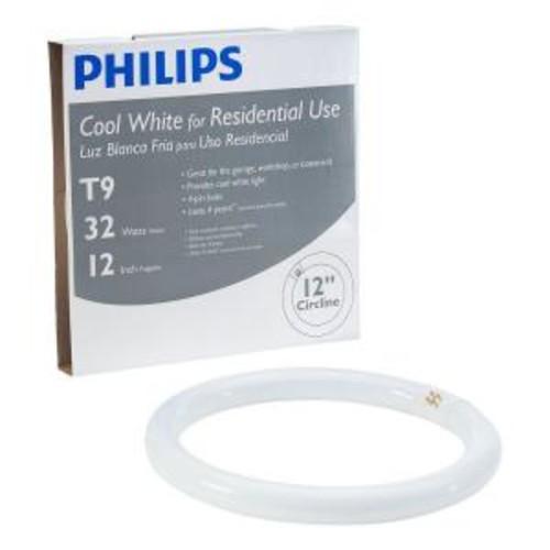 Philips 12 in. T9 32-Watt Cool White Plus (4100K) Circline Linear Fluorescent Light Bulb (12-Pack)