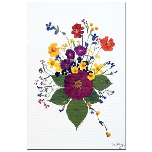 Enchanted Garden, Big Bouquet by Kathie McCurdy, 14x19-Inch Canvas Wall Art [14 by 19-Inch]