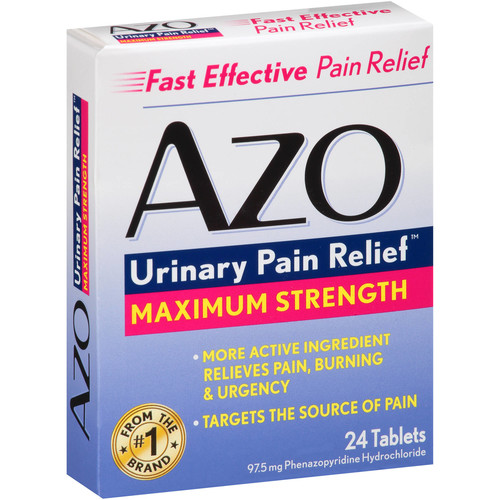 AZO Urinary Pain Relief Maximum Strength Relieves Pain, Burning & Urgency  Targets the Source of Pain  Fast and Effective  24 Tablets [24 tabs]