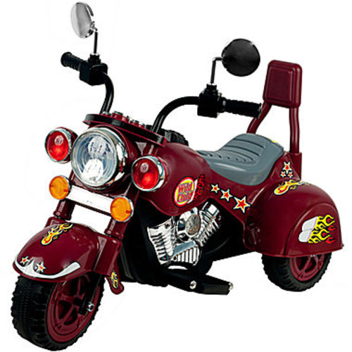 Ride on Toy, 3 Wheel Trike Chopper Motorcycle for Kids by Lil' Rider - Battery Powered Ride on Toys for Boys and Girls, Toddler and Up - Maroon [Maroon]
