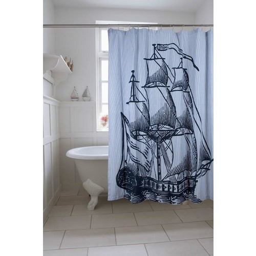 Galleon Shower Curtain design by Thomas Paul