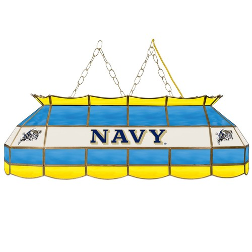 United States Naval Academy 40 inch Stained Glass Tiffany Style Lamp