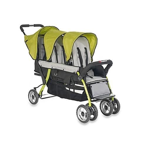 Foundations Trio Sport Splash of Color 3-Passenger Stroller in Lime