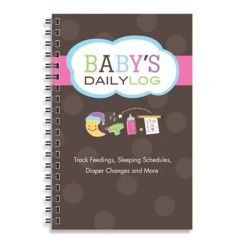Kahootie Co Baby's Daily Log Notebook in Brown