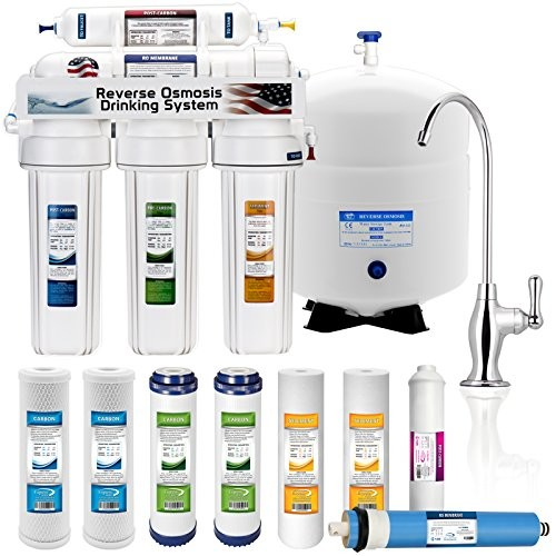 Express Water RO5DX 5 Stage Undersink Reverse Osmosis Drinking Water Filtration System plus Extra Set of 4 Supreme Quality Replacement Filters