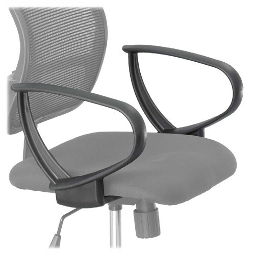 Safco Products 3396BL Loop Arms Set for use with Vue Mesh Extended Height Chair 3395, sold separately, Black [Black]
