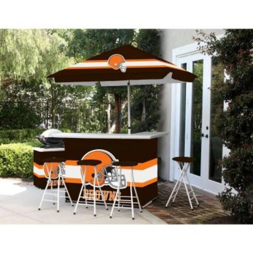 Best of Times Cleveland Browns All-Weather Patio Bar Set with 6 ft. Umbrella