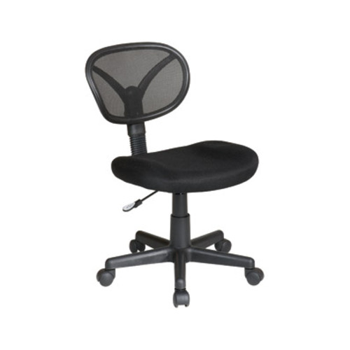 Office Star EM20600-3 Work Smart Screen Back/ Fabric Task Chair, Black