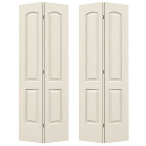 JELD-WEN 72 in. x 80 in. Continental Primed Smooth Molded Composite MDF Closet Bi-fold Door