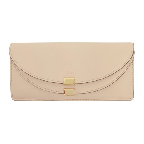 CHLOÉ Pink Thin Long Georgia Wallet