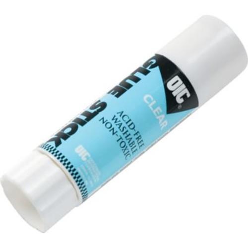 OIC Medium Clear Glue Stick, Clear, .74 oz.