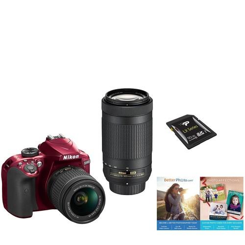 Nikon D3400 Dual Lens DSLR Camera Kit - 18-55mm\u0026 70-300mm