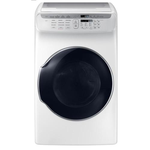 Samsung 7.5 Total cu. ft. Gas FlexDry Dryer with Steam in White